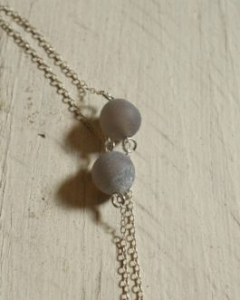 Blue Sodalite and Fern Necklace