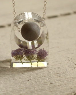 Blazing Star Resin Ring and Stone Necklace